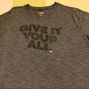 NWOT Cute Old Navy crop T. Give It Your All. Sz L
